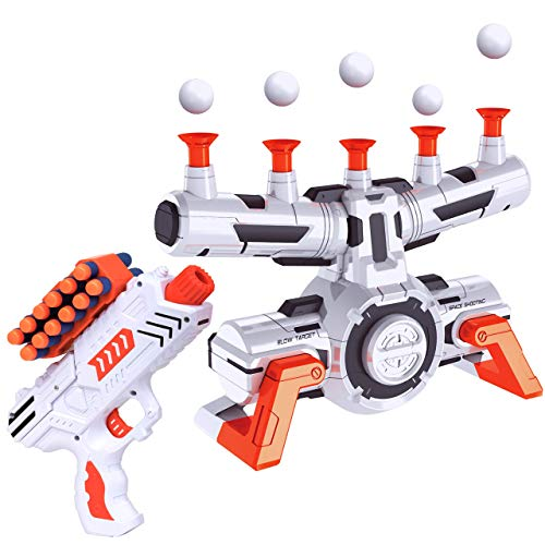 USA Toyz Astroshot Zero G Compatible Nerf Targets  Indoor Shooting Games for Kids with Foam Dart Gun and 10 Floating Ball Gun Targets