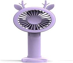 ZHOUJ Mini air koeler Handheld Fan Elektrische Mini Draagbare Outdoor Fan Usb Desktop Cooling Hand Fan Met Base 2500 Mah B...
