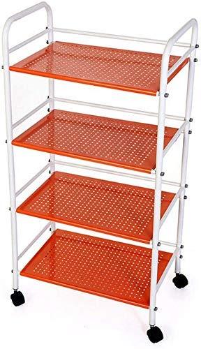 SUNTAOWAN Almacenaje del estante de metal estante de la cocina de microondas horno de carro multifunción de rack de almacenamiento de sala de estar Incorporated Cuatro capas ayudante regalo de la coci