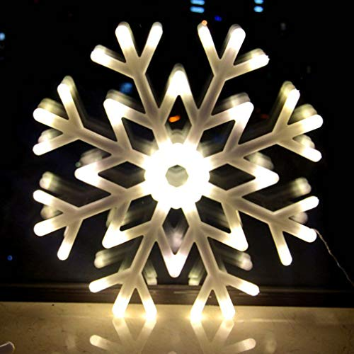 OSALADI LED Weihnachten Schneeflocken Licht im Freien Wasserdichte Weihnachten Große Schneeflocke LED Hängende Fee Aufgeladene Lampe für Weihnachtsbaum Garten Hinterhof Fenster Haus