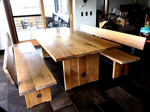 Essgruppe mesa redonda, Tisch mit 2 Bänken