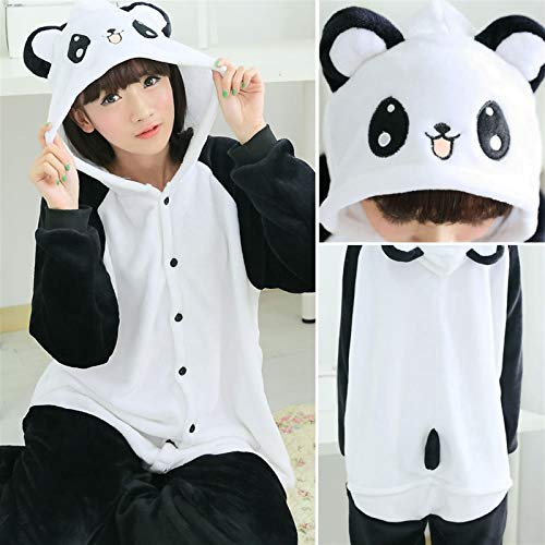 WJCRYPD Flanella Invernale Pigiama Imposta Donne Pigiameria Panda Onesies Punto for Adulti Animal Pigiama Cosplay Unisex Homewear of Shop (Color : Panda GB, Size : Medium)