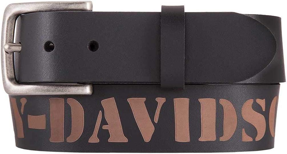 Harley-Davidson Men's Outlaw H-D Genuine Leather Belt, Black HDMBT11532