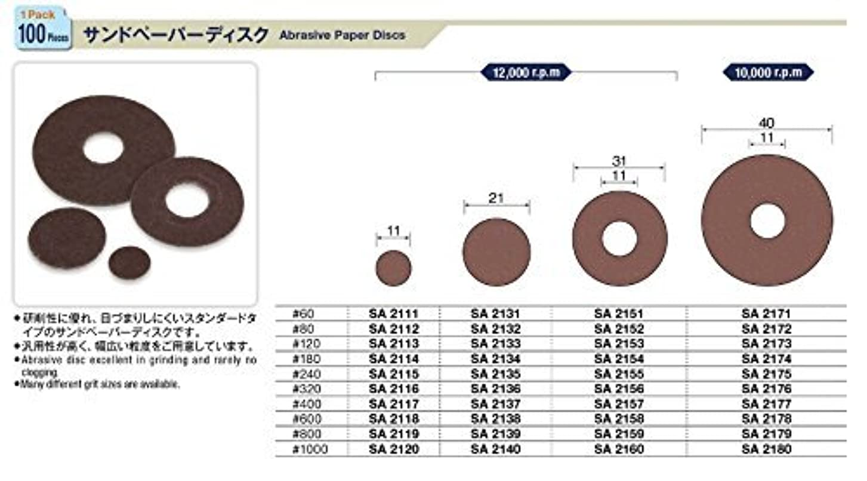 大きさ縮れた粉砕するミニター サンドペーパーディスク 100個入SA2112