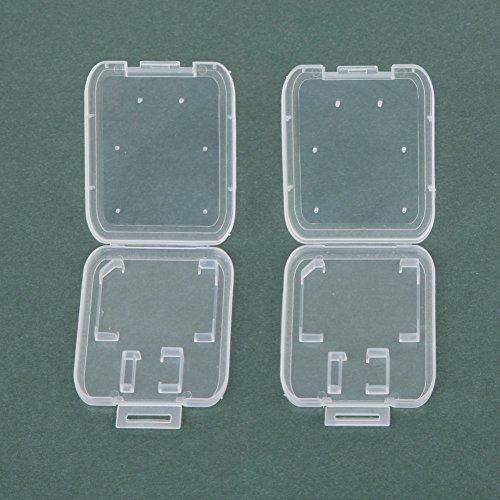 실용적인 10PCS 투명 표준 SD SDHC 메모리 카드 케이스 홀더 박스 스토리지