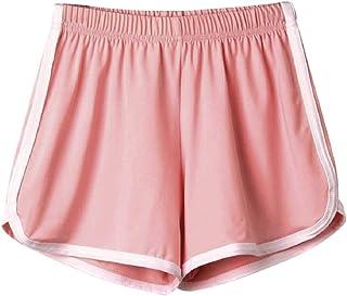 Aonember Womens Shorts Yoga Running Short Pants Beach Shorts Elastic Waist Workout Sport Athletic Shorts with Drawstring