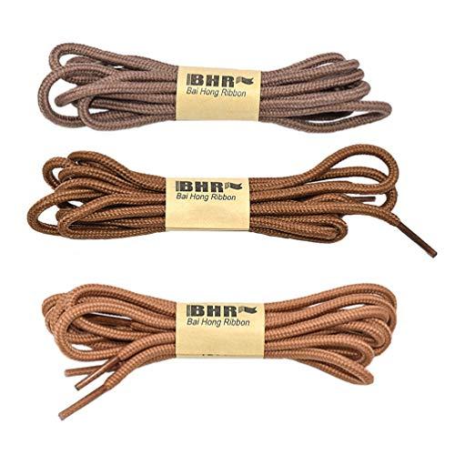Holibanna 3 Paires de Lacets Ronds Polyester Corde de Chaussure Durable Bricolage Cravates de Remplacement pour Chaussures de Randonnée en Toile Décontractée Chaussures de Randonnée