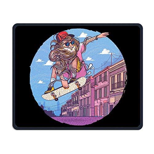 Mauspad Man Street Skateboard Art Rechteck Gummi Mousepad Gaming Mauspad mit schwarzer Verriegelungskante