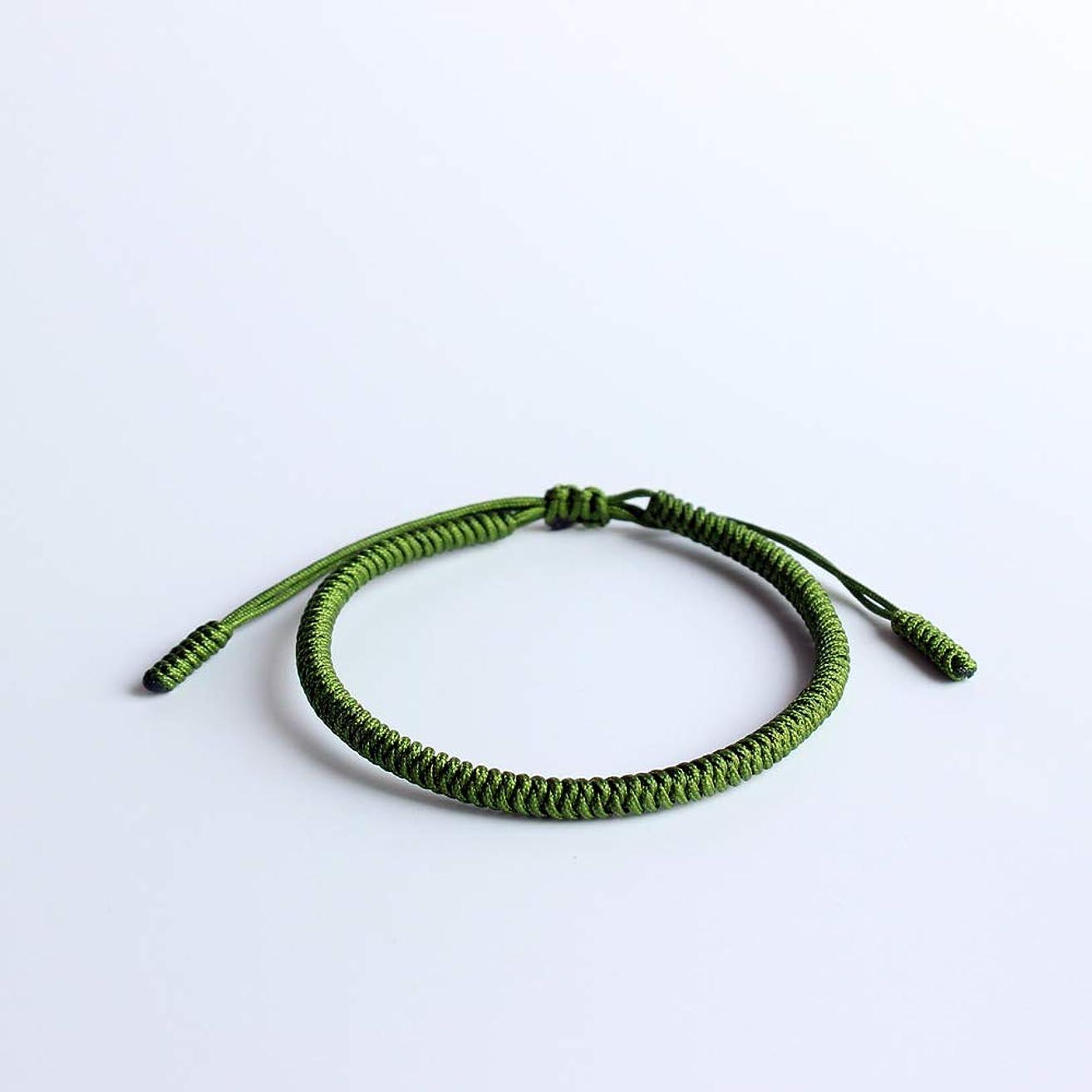 Tibetan Buddhist Lucky Charm Tibetan Bracelets & Bangles For Women Men Handmade Knots Green Rope Amulet Gift Bracelet