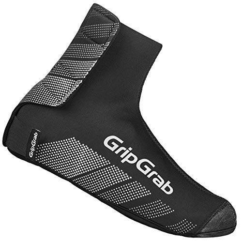 GripGrab Ride Winter Neoprene Windproof Road Mountain-Bike Cycling Overshoes Warm Rain Bicycle Shoe Covers Black, x-Small