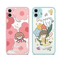 可愛い おしゃれ 多彩な花柄 ソフト シリコン アイフォン保護カバー 2021~2022AM (カラー7, iPhone 12 Pro Max)