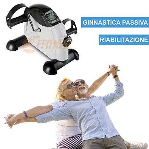 FFitness Cyclette Pedaliera da casa - Riabilitativa, Ginnastica passiva, per Anziani, Riabilitazione...