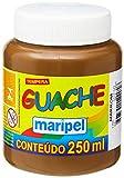 Tinta Guache, Maripel 7255, Marrom, 250 ml, Pacote de 6
