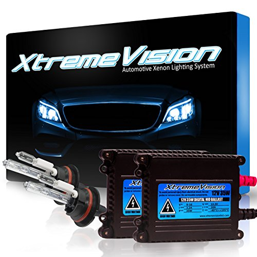 XtremeVision 35W Xenon HID Lights with Premium Slim Ballast - 9007 6000K - 6K Light Blue - 2 Year Warranty