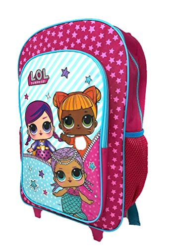 Children's LOL Surprise Character Luggage Deluxe Wheeled Trolley Backpack Suitcase Cabin Bag School