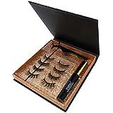 Magnetische Wimpern, Magnetischer Eyeliner, Künstliche Magnet Wimpern mit Eyeliner 10ml, Dermatologisch getestet