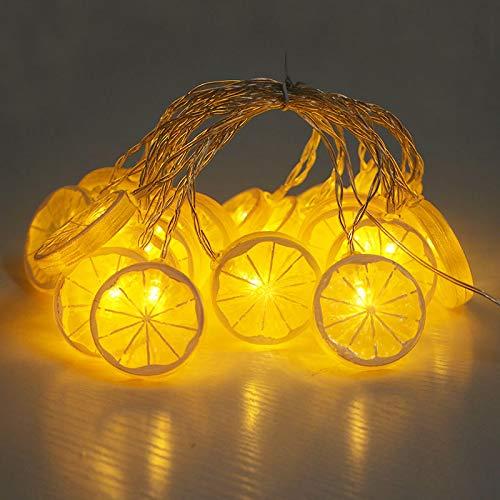 yuge 3m 20leds Lemon Shape Fairy String Lights Warm White Strip Light Battery/USB Operated Decorations For Christmas Birthday Wedding Yellow