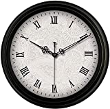 Reloj cocina pared Reloj de pared reloj de pared simple Continental reloj de pared de la sala de estar de la vendimia Dormitorio ciclo de reloj de pared de silencio Gráfico de la decoración del hogar