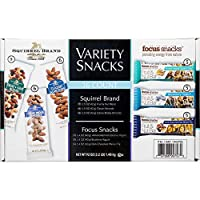 Squirrel Brand and Focus Snack リスブランドとフォーカススナックフルーツ&ナッツスナックパック、バラエティ、36バー、合計1.48 Kg [並行輸入品]