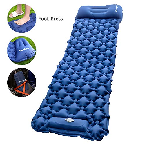 classement un comparer Repose-matelas de camp gonflable Moit Press Foot Press, Ultralight Air Sleep Mat…