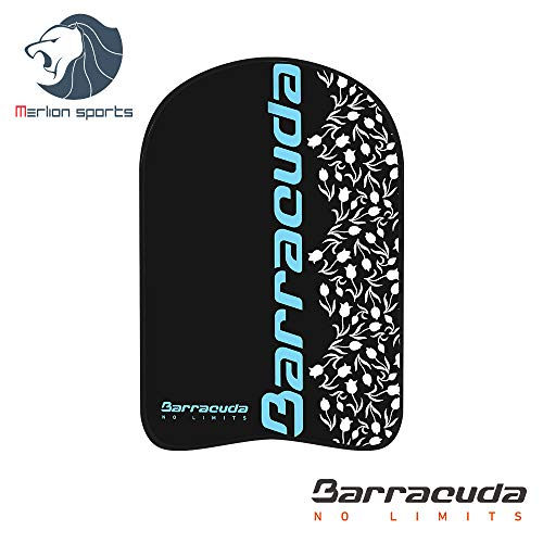 Barracuda Swimming Kickboard Glow Party CLASSICAL BLOOMS - Swim training aid, EVA, Float Floating Buoy, Chlorine-proof for Adults (BLUE)