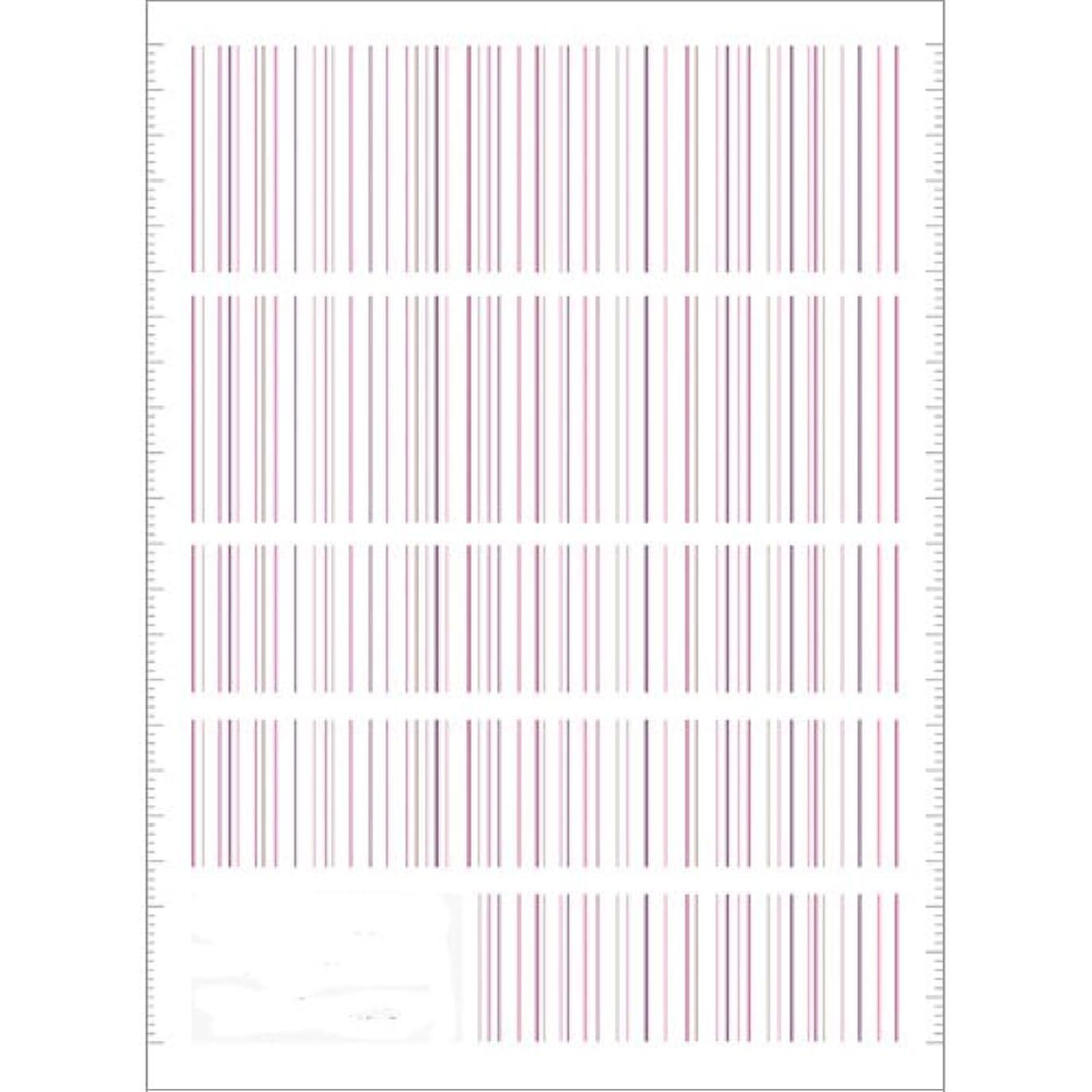 分数なる支払うツメキラ(TSUMEKIRA) ネイル用シール ピンストライプ ピンク NN-PIN-104