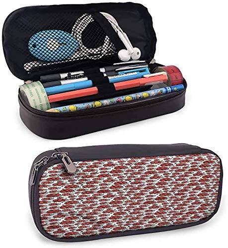 KLKLK estuche Kids Pencil case for Girls capisinz Happy Ladybird Childish Doodle Pencil Bag with Compartment