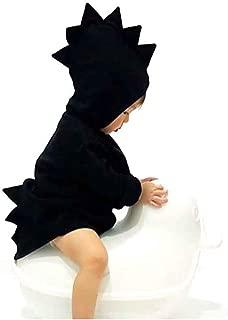 Baby Girls Boys Winter Hooded Fleece Jacket Coat Cartoon Dinosaur Zipper Outwear