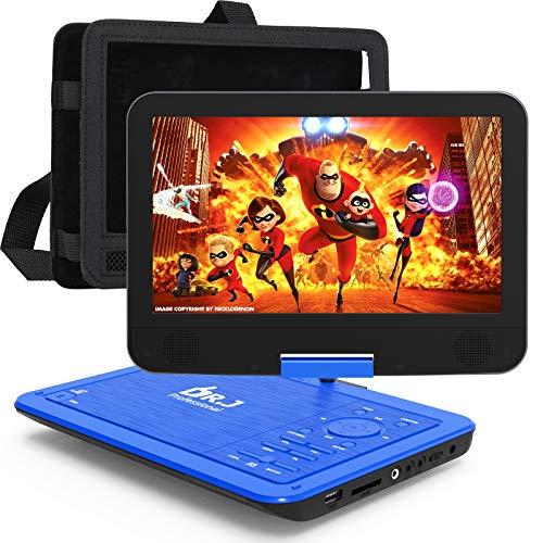 DR. J Professional 12.5' Portable Car headrest Video Player, Region-Free Portable DVD Player 10.5'...