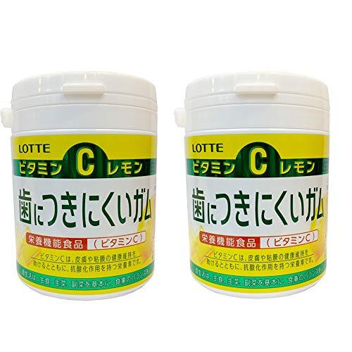 ロッテ 歯につきにくいガム(レモン)ボトル 138g ×2セット