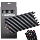 Lapices de Colores Adultos, 12 pack Lapices para Colorear para Dibujar, Lapices de Colores Faber Castell Profesionales, Set Lapices Dibujo Colorear Niños