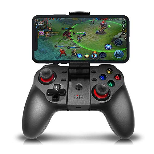 TECGAMER Mobile Game Controller, Wireless Bluetooth Gamepad Joystick Multimedia Game Controller Compatible with Android Windows PC, Perfect for The Most Games-NO Supporting iOS 13.4 or Above (black2)