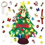 Reccisokz Fieltro Árbol de Navidad FRJustdolife Árbol de Navidad DIY con 50 Luces LED 30 Unids Adornos Navidad Decoración Colgante para Niños Niños arbol de Navidad Cafe Hotel casa decoración
