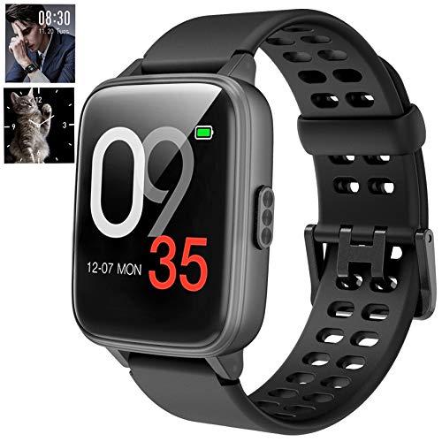 Jogfit Smartwatch Schwimmen, Fitness Armband DIY Hintergrund Wasserdicht IP68, Smart Watch mit Pulsmesser Schlafmonitor Aktivitätstracker Schrittzähler Stoppuhr Sportuhr Damen Herren für iOS Android