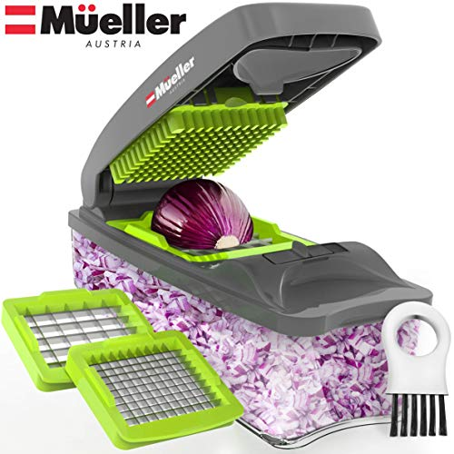 Mueller Austria Onion Chopper Pro Vegetable Chopper - Strongest - 30% Heavier Duty Multi Vegetable-Fruit-Chopper-Kitchen Cutter