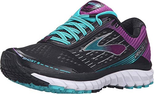 Brooks Mujer Ghost 9 Neutral Running Zapatos Zapatillas Entrenar Transpirable Negro/Morado 37.5