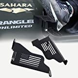 cartaoo Foot Pegs Solid Steel Black Foot Rest Kick Panel for 2007-2017 Jeep Wrangler JK & Unlimited (2pcs in 1pack)