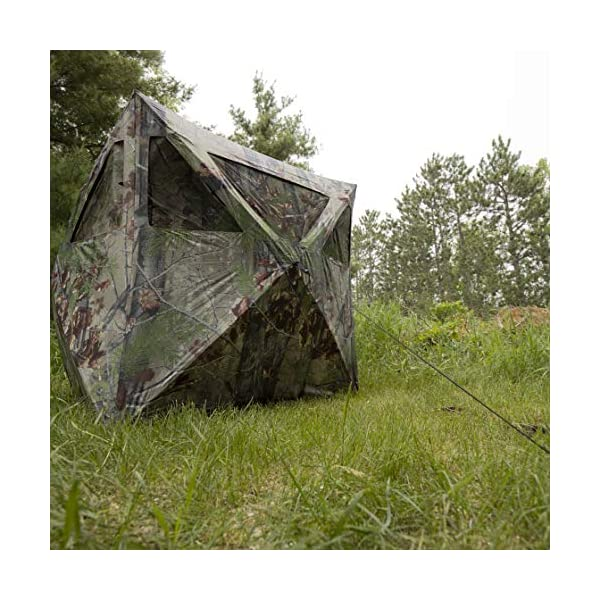 Barronett Radar Ground Hunting Blind 2 Person Pop Up Portable Backwoods Camo