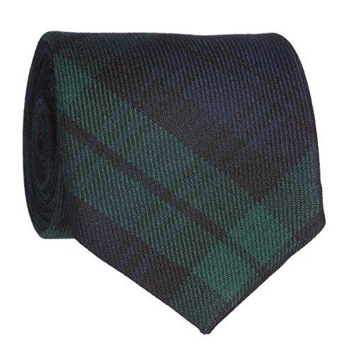 Black Watch Moderne Woll-Krawatte, hergestellt in Schottland, Tartan-Muster