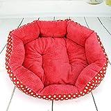 ZQQZ Cama De Perro Perro Caliente Caniche Engrosado Teddy Poodle Dog Nest-Rose Wave Dot_Medium 40 * 35 * 10Cm Cama para Perros