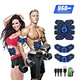 YOMYM Stimulator Muscle Toner Rechargeable Muscle Trainer Ultimate Abs Stimulator for Men Women