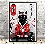 Leinwand malerei Japan Stil Wandkunst Japanischen Samurai Geisha und Maiko Poster Leinwand Wandbilder für Wohnzimmer Dekor