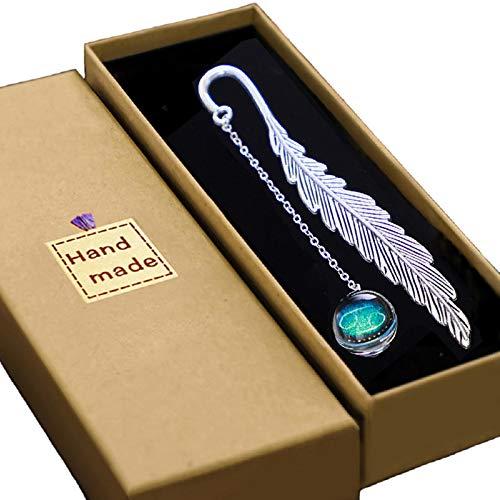 Konrisa Marcapáginas de lujo con constelación luminosa de metal con hermoso patrón de zodíaco, marcadores personalizados, lector de Avid regalo para mujeres, hombres, niñas, señoras y niños