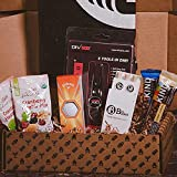 The BroBox Premium Golfer Goodies Box   Contains Div Pro Divot Tool, Golf Balls, Towel, Tees, Mix Snacks, Fruit and Nut Bars   Awesome Golf Themed Gift Basket For Men