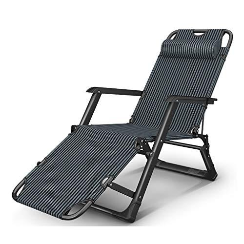 Liegestuhl Klappbare Sonnenliege Klappbarer Liegestuhl Um 180 ° drehbarer Gartenstuhl mit Abnehmbarer Kopfstütze und Sonnenliege PENGJIE