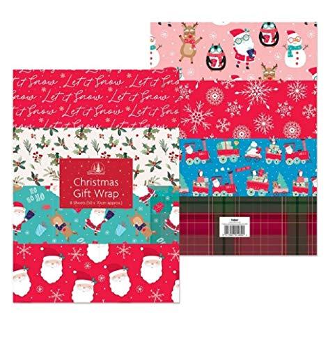 Festive Wonderland 8 Large Sheets of Christmas Wrapping...