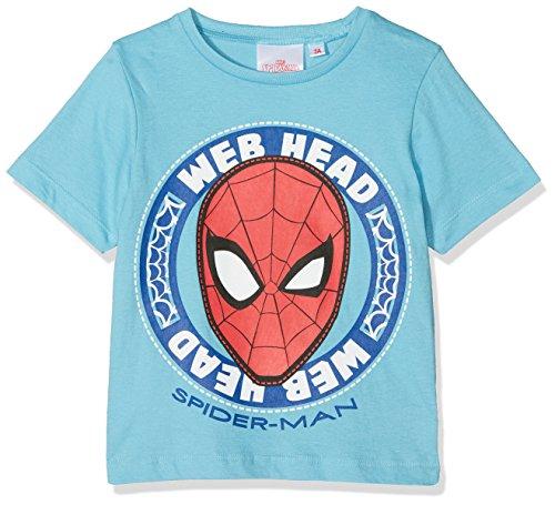 Marvel Spiderman Hero Camiseta, Turquesa (Azul), 4 Años para Niño