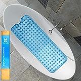 Heimelig ® Badewannenmatte - Antirutschmatte Badewanne mit Saugnäpfen - qualitativ inklusive 4 Klebehaken zum Aufhängen und Trocknen - Dermatest Siegel