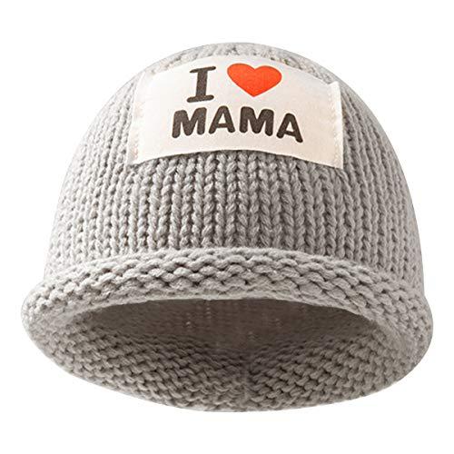 DaMohony Baby Winter Hoed, Pasgeboren Warm Gebreide Stretchy Chunky Beanie Hoed voor 0-3 jaar Babys