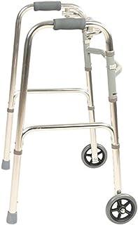 SONGYU Marcheurs d'assistance Pliables pour Personnes âgées Adultes Escalade sur Le Cadre de Marche en Descente Aide à 2 R...